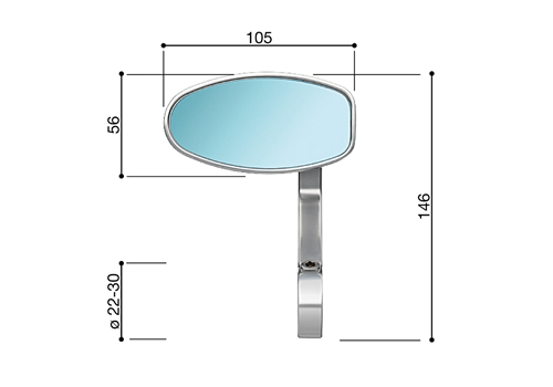 "Backspegel ""REVERSE RETRO"" BS070"